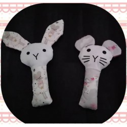 Hochet lapin ou oursons
